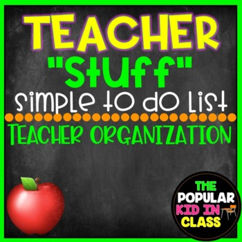 Free Simple Teacher To Do List Printable