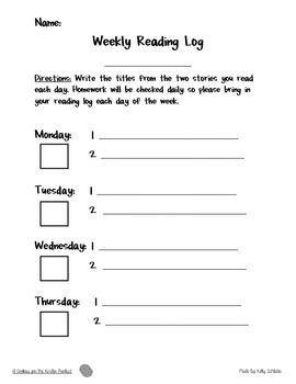 Free Simple Weekly Reading Log