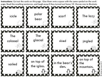 {Free} Singular Sentences Grammar Activity