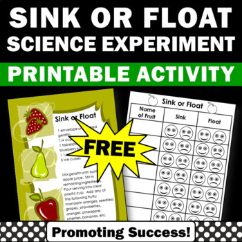 FREE Download Sink or Float Activity, Sink or Float Experi