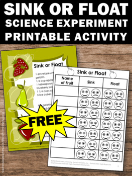 FREE Sink or Float Experiment, STEM Activity