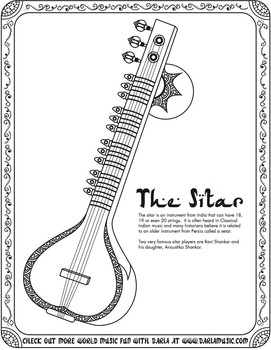 Musical Instruments Coloring Page by Admiral Theatre - issuu | 350x271