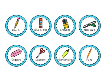 Free Six-Cup Caddy Supply Labels