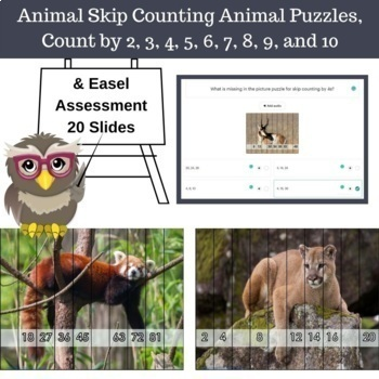 free skip counting animal puzzles count by 2 3 4 5 6 7 8 9 and 10. Black Bedroom Furniture Sets. Home Design Ideas