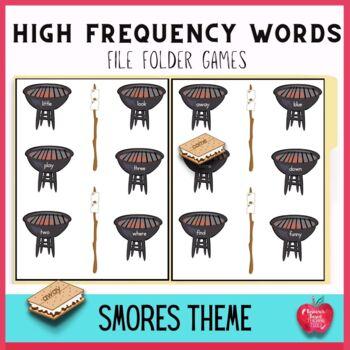 Free Smores Galore Pre-Primer Dolch File Folder Game
