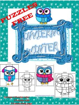Free Snow Puzzle / Puzzle Invierno