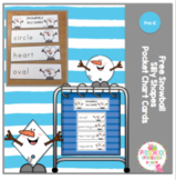 Free Snowball Silly Shapes Pocket Chart Cards