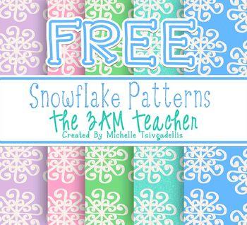 Free Snowflake Background Patterns: Set #1