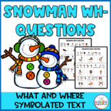 Free Snowman Wh Questions