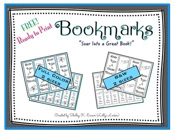 Free Soar Into A Great Book Bookmarks