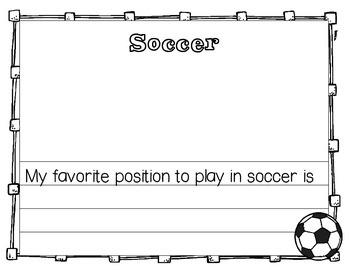 Free Soccer Writing Set