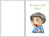 Free Social Story: Do Not Pull Hair printable