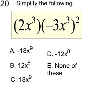3 Free Socrative Math Quizzes Monomials, Venn Diagrams & 2 Way Tables for PDF