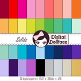 Free Solid Digital Paper - (to match my other 36-color kits)