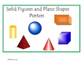 Free Solid Figure and Plane Shape Posters