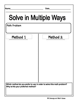 {Free} Solve a Math Problem in Different Ways