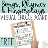 Free Songs, Rhymes, and Fingerplays Visuals and Choice boa