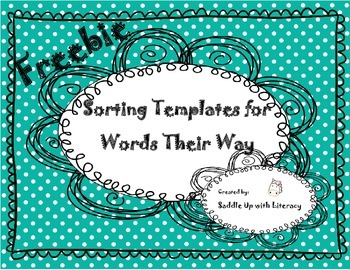 Free Sorting Templates for use with Words Their Way