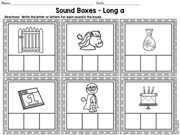 Free!  Sound Boxes For Teaching Phonemic Awareness and Phonics