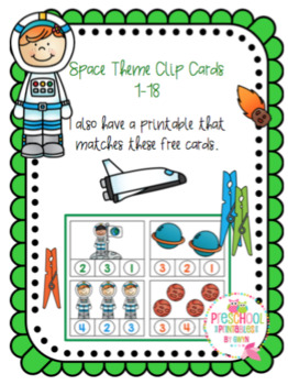 Free Space Number Clip Cards