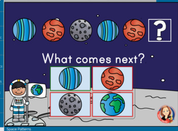 Free Space Theme Patterns Digital Boom Cards