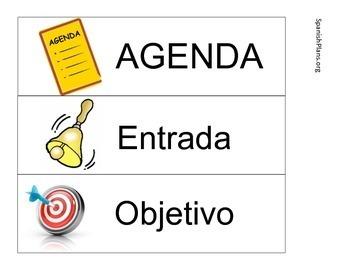 Free Spanish Agenda Labels