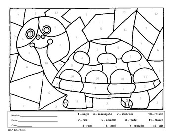 Free Spanish Coloring Page By Cyber Profe Teachers Pay Teachers