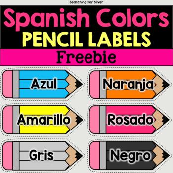 Spanish Colors Pencil Labels Freebie