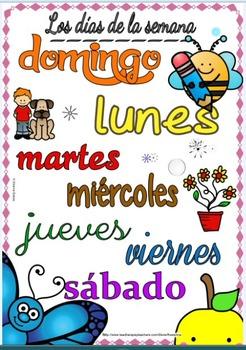 Free Spanish Days of the week - Los dias de la semana