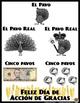Free Spanish Poster * Feliz Día de Acción de Gracias * Póster en Español *GRATIS