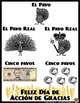 Free Spanish Poster * Feliz Día de Acción de Gracias * Pós