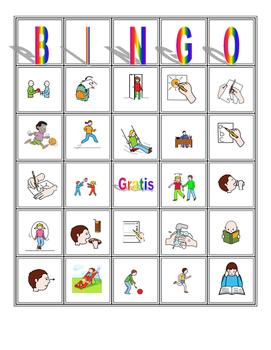 Free Spanish Verbs Bingo