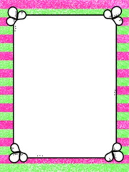 Free Sparkly Stripe Cover page with Border