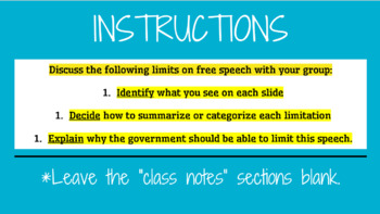 Free Speech Lesson Plan; Protected and Restricted Speech