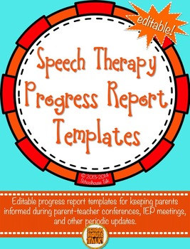 {Free} Speech Therapy Progress Report Template {editable PowerPoint file}
