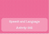Free ~ Speech and Language Activity 002 ~ Syllables for Br