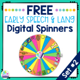 Free Speech and Language Digital Spinners SET 2 No Print Teletherapy Activities