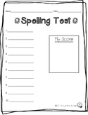 Free Spelling Test Recording Form