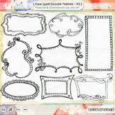 Free Spirit Digital Frames | Hand-Drawn Doodle Border ClipArt | Labels