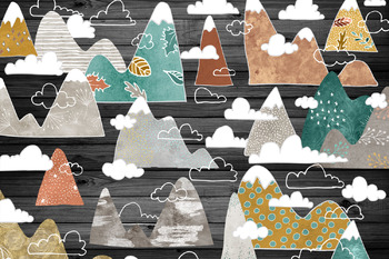 Free Spirit Mountains and Clouds clipart
