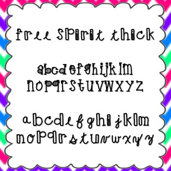 Free Spirit Thick Font {personal and commercial use; no license needed}