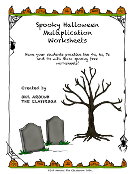 Free Spooky Halloween Multiplication Worksheets