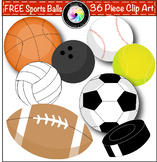 Free Sports Balls Clip Art