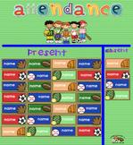 Free Sports Theme Attendance SMART Board Slide