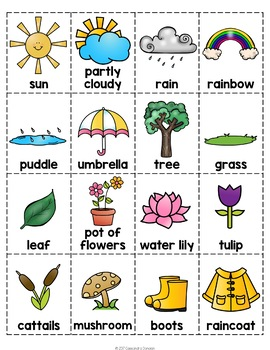 Free Spring Activities - Fun No Prep Spring Worksheets & Spring Vocabulary Cards