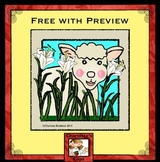 Free Spring Clip art: Sheep - Lamb with Lilies