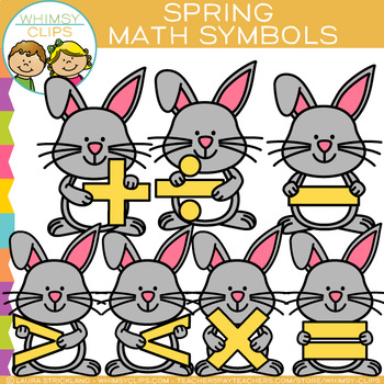 Free Spring Math Symbols Clip Art By Whimsy Clips Tpt