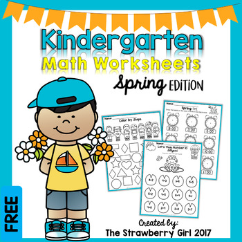 Free Kindergarten Math Worksheets - Spring