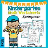 Free Kindergarten Math Worksheets - Spring