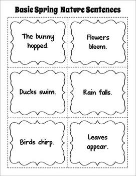 Spring Sentences (Free)